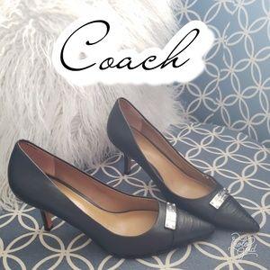 Black heels 5 1/2 coach